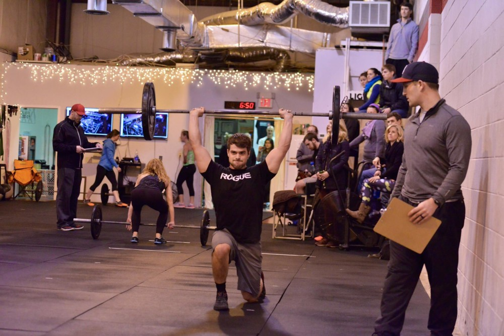 Nick doing overhead lunges